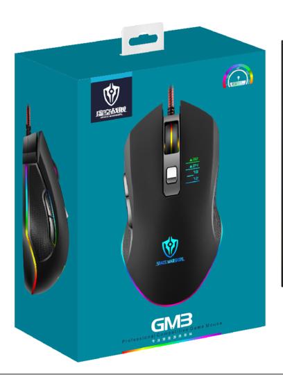 ماوس گیمینگ مدل gm3 RGB