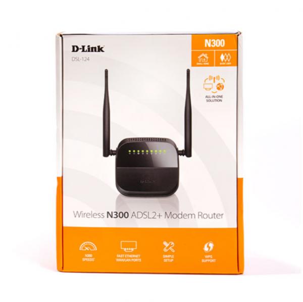 مودم روتر بی سیم دی-لینک سری +ADSL۲ مدل DSL-۱۲۴ NEW