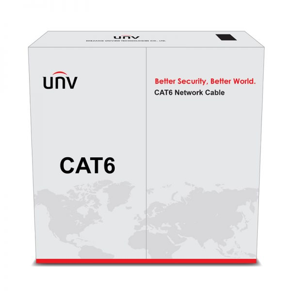 کابل شبکه یو ان وی طول ۳۰۵ متر نوع CAT6 UTP