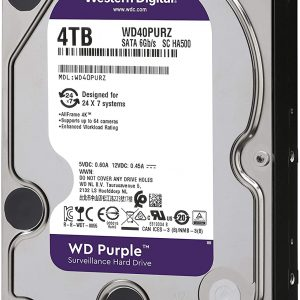 هارددیسک اینترنال وسترن دیجیتال مدل بنفش ۴TB WD Purple Surveillance