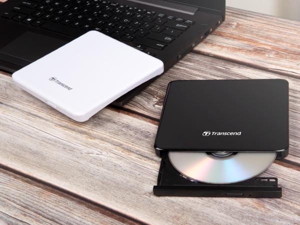 دی وی دی رایتر اکسترنال ترنسند Transcend Slim Portable DVD Writer
