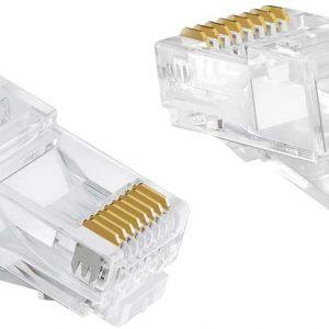 سوکت شبکه Cat6 UTP بسته ۱۰۰ عددی