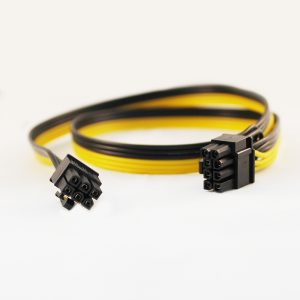 کابل برق گرافیک ۶ پین به ۲+۶ پین شرکتی ۷۰ سانتیمتر (وارداتی چین)