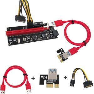 رایزر گرافیک تبدیل PCI EXPRESS X1 به X16 مدل ۰۰۹s مشکی قرمز