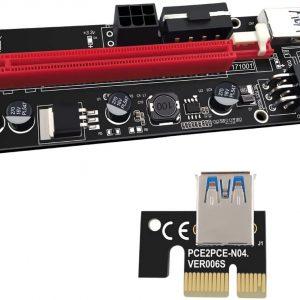 رایزر گرافیک تبدیل PCI EXPRESS X1 به X16 مدل ۰۰۹s طلایی و مشکی