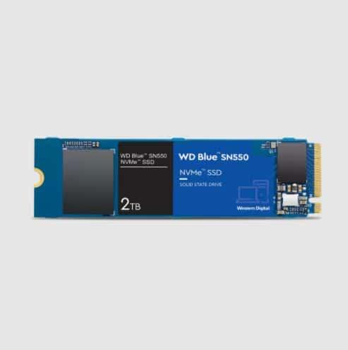 حافظه اساسدی اینترنال وسترن دیجیتال SN550 NVMe Blue 2TB