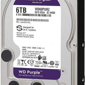 هارددیسک اینترنال وسترن دیجیتال مدل بنفش ۶TB WD Purple Surveillance